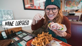 Last Day in NEW ENGLAND! Trying DELICIOUS Maine Lobster Roll + Exploring Augusta 😍 Video
