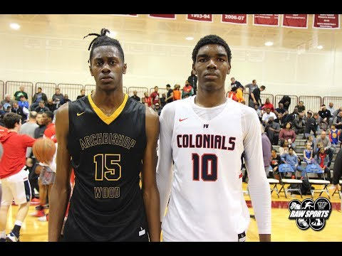 PLYMOUTH WHITEMARSH vs ARCHBISHOP WOOD (2 SEVEN FOOTERS BATTLE!!)