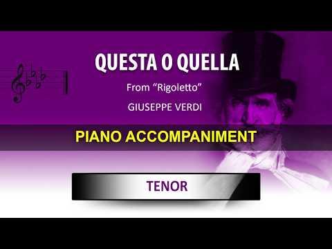 Questa o quella / Karaoke piano / Giuseppe Verdi / Tenor