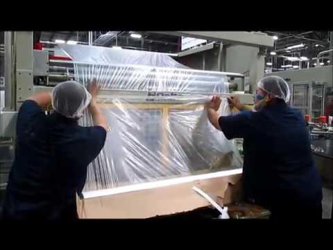 Roll changeover procedure on Delta Engineering baggers