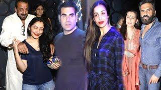 Bollywood Karva Chauth Party With Wives - Arbaaz-Malaika,Sanjay Dutt-Manya