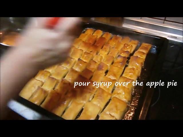 Traditional Bosnian appel pie called JABUKOVA?A