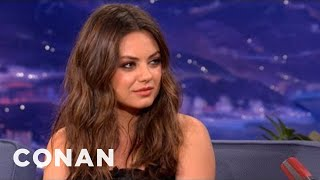 Mila Kunis Has A Badass Stare Of Doom - CONAN on TBS