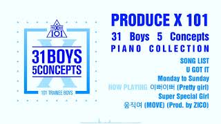프로듀스 X 101 컨셉 평가곡 모음 (PRODUCE X 101 31 Boys 5 Concepts) [PIANO COVER]