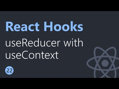 React Hooks Tutorial - 22 - useReducer with useContext thumbnail
