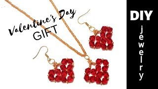5 mins craft. How to make jewelry for Valentine's Day. DIY GIFT