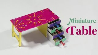 How To Make A Miniature Table | Best Out Of Waste | Matchbox Reuse Idea | Desk Organizer Making