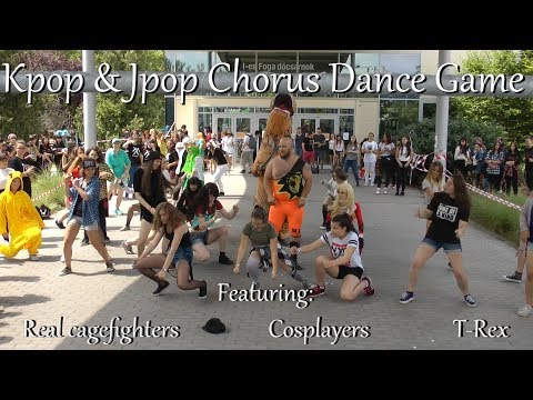 95 songs in 58 minutes - Kpop & Jpop Chorus Dance Game @ Mondocon