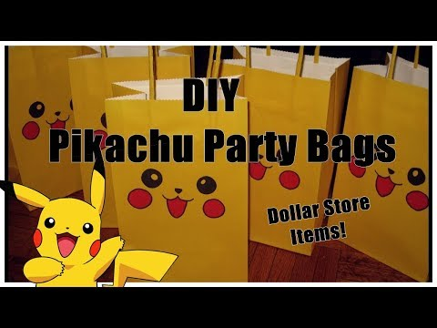 DIY || Pikachu Party Bags