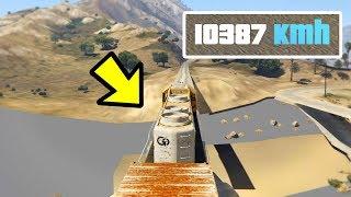 Zug fährt 10387 KM/H in GTA 5, dann passiert das..😱