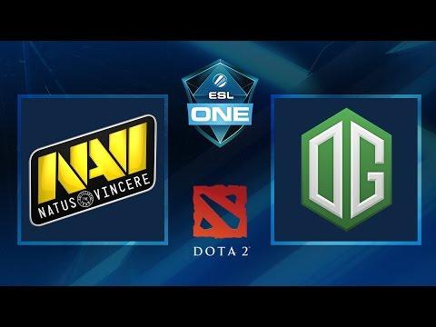 Dota 2 - NaVi Vs. OG - Game 1 - ESL One Frankfurt 2016 - Groupstage