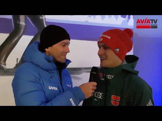 Stephan Leyhe nach dem Skisprung-Weltcup-Teamspringen in Wisla