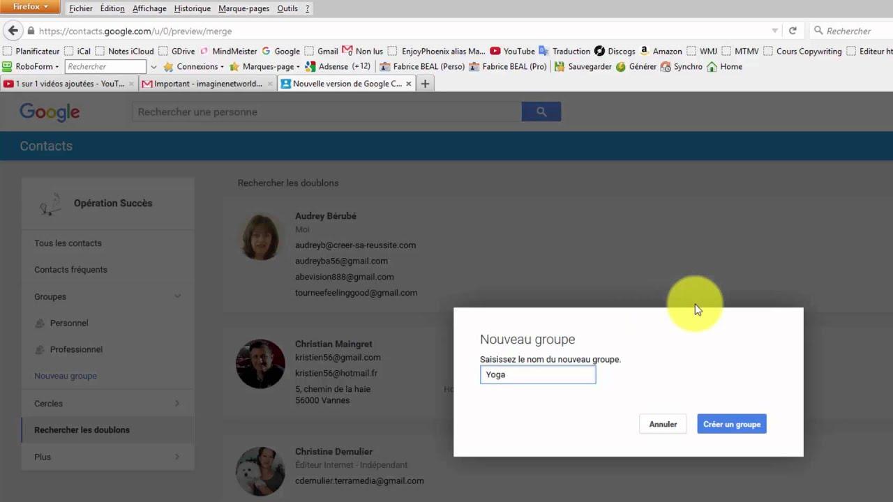 Comment gérer vos contacts avec Gmail