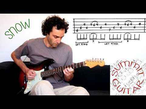Red Hot Chili Peppers - Snow (Hey Oh) - Guitar lesson / cover with tablature - Live Version