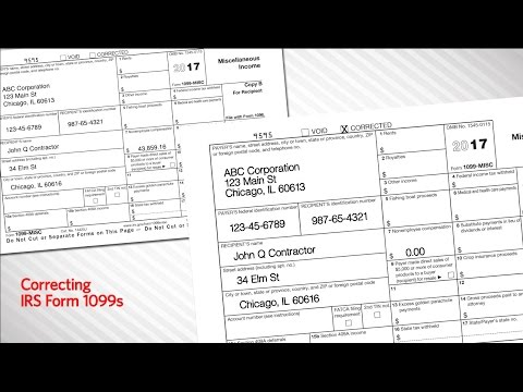Correcting IRS Form 1099s