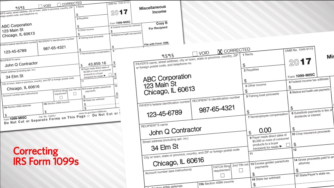 Correcting irs form 1099s youtube falaconquin
