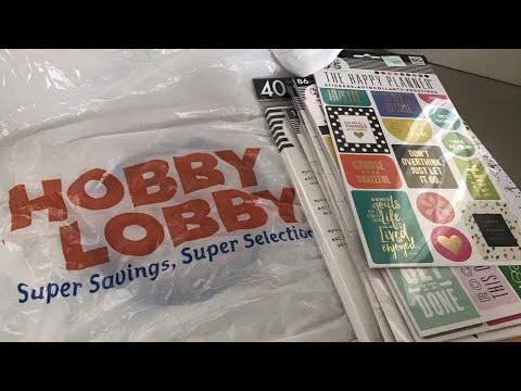 Hobby Lobby Planner Supply Haul