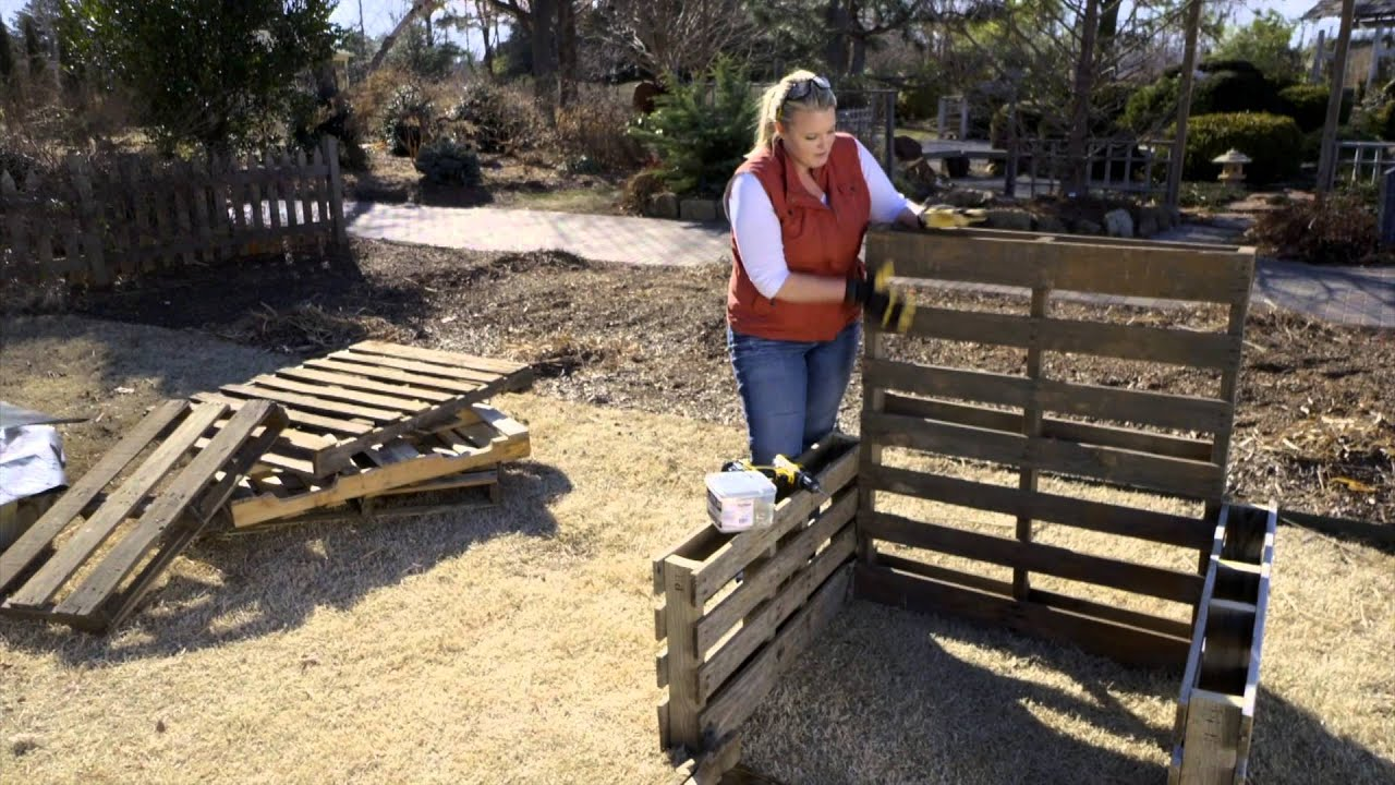 Raised Bed Garden From Pallets   YouTube