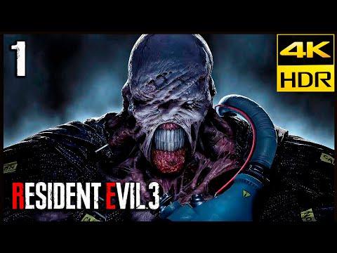 RESIDENT EVIL 3 REMAKE Parte 1 Gameplay Español 4K HDR   Resident Evil 3 Nemesis (Hardcore)
