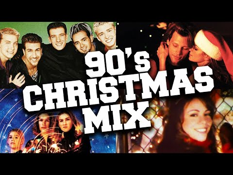 Christmas Songs of the 90s Mix 🎄  Best 1990s Christmas Music With Lyrics