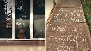 Teddy bear hunts for kids cooped-up during coronavirus