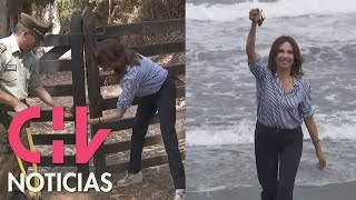 Ministra llegó rompiendo cadenas para liberar el acceso a las playas en Pichilemu