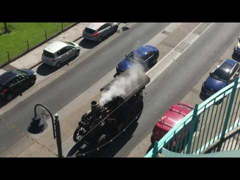 Steam vehicle in Douglas, Isle of Man 23-04-2017