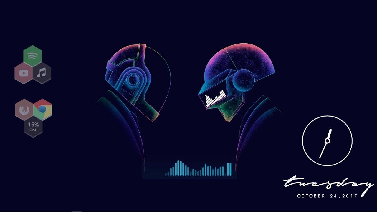 Daft Punk Rainmeter Skin 2017