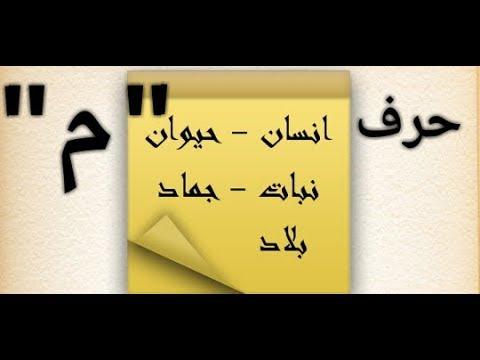 حل لعبة إسم بنت ولد حيوان نبات بلد جماد حرف الميم م Youtube
