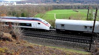 Züge in Umiken - Stadler SMILE - SBB RABe 501 - Giruno