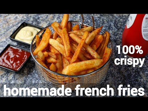 homemade crispy perfect french fries recipe with tips & tricks | crispy finger chips