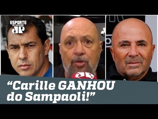 """O Carille GANHOU do Sampaoli!"", dispara narrador após Corinthians 0 x 0 Santos!"