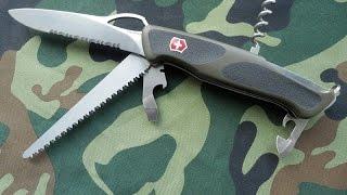 Швейцарский складной нож для леса - Victorinox RangerGrip 179(Обзор швейцарского ножа Викторинокс Рейнджер Грип 179 из серии Delemont Collection. Нож Ganzo G724м ..., 2014-11-23T11:55:18.000Z)