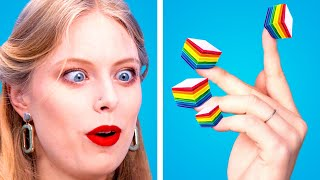 100 LAYERS CHALLENGE! 100 Coats of Makeup, Nails & Food || 100 Coats of Things by Crafty Panda