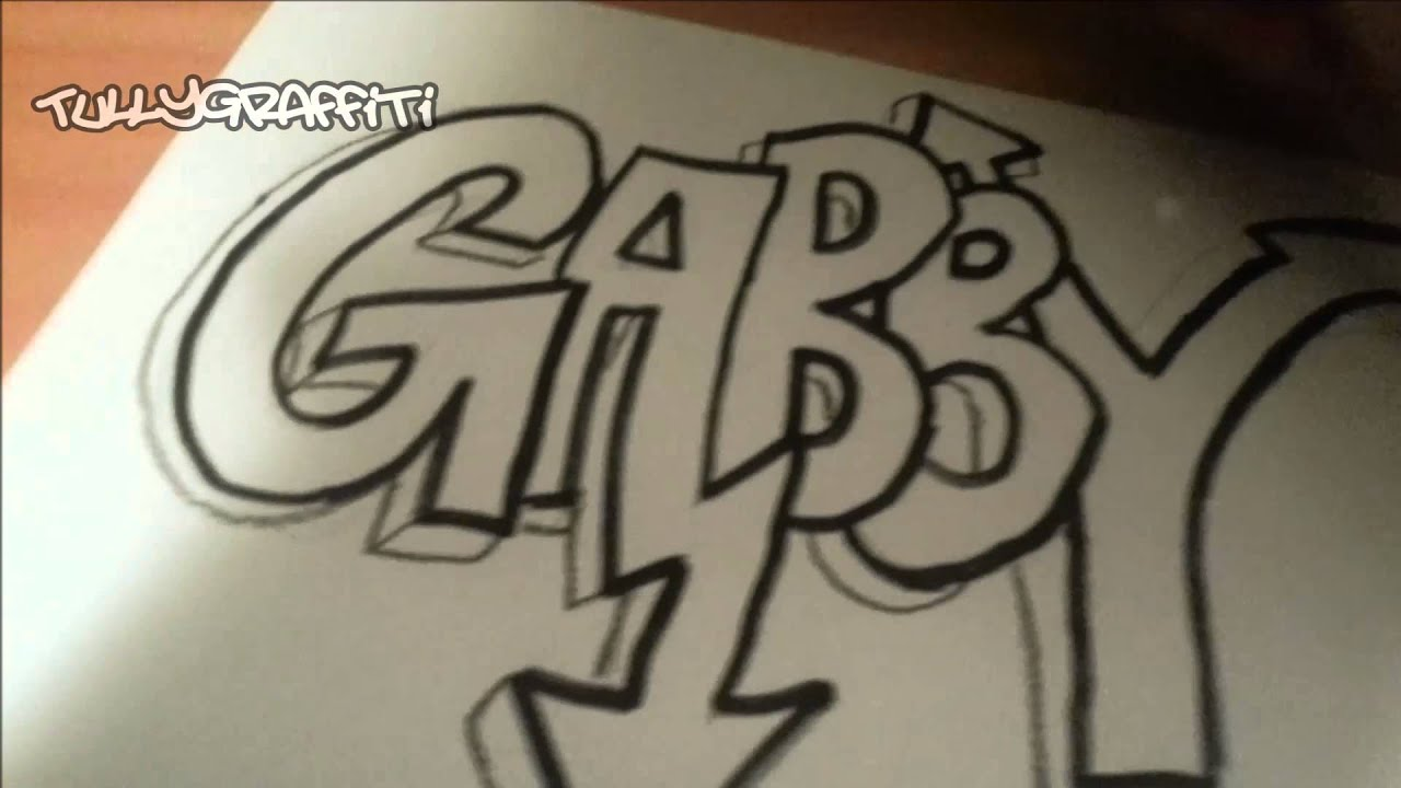 Graffiti art request gabby speed draw