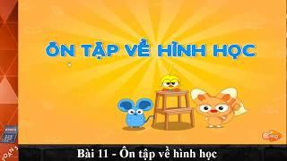 Bài 11, Ôn tập về hình học ,Toán lớp 3, Toan 3, hoc toan, học toán, toán học, toan hoc