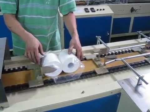 Semi Automatic Toilet Paper Packing Machine Roll Tissue