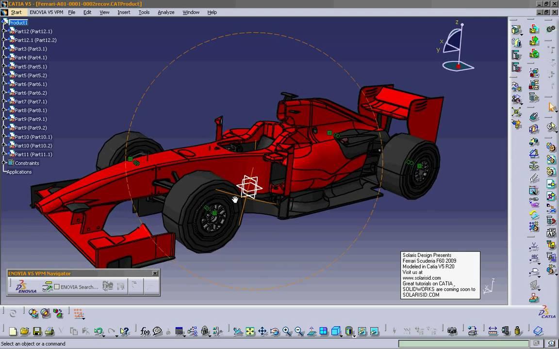 Ferrari Scuderia F60 Formula 1 Racing Car Modeled In Catia