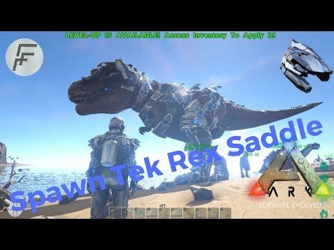 Ark Survival Evolved: How to Spawn Tek Tier Rex Saddle