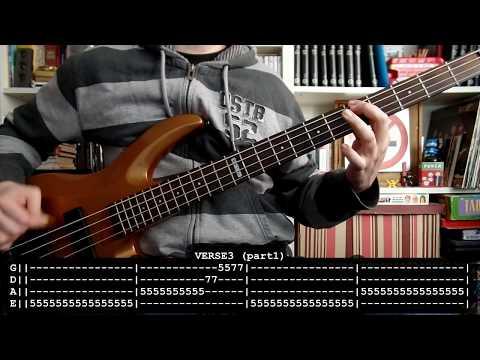 ANIMALES MUERTOS - Kisiera Ver (bass Cover W/ Tabs) [full HD]