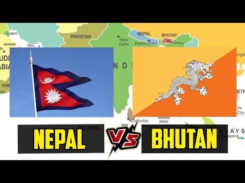 Nepal VS Bhutan Country Comparison   Bhutan VS Nepal   Area, Military, HDI, Poverty etc