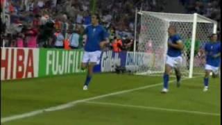 Mondiale 2006 - Italia vs Ucrania - Gol di Toni 2-0 (HQ)