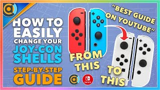 THE BEST tutorial for replacing your Nintendo Switch Joycon shells. Easiest guide on YouTube.