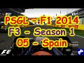 PSGL [F3] - F1 2014 PS3 - Season 1 Round 05 - Spain - Highlights 07/12/2014