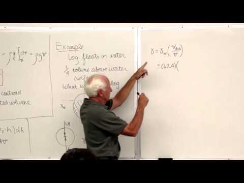 Fluid Mechanics: Buoyancy & the Bernoulli Equation (5 of 18)