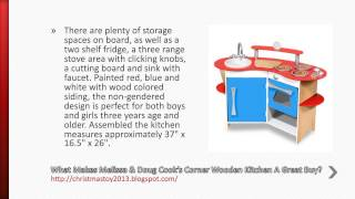 MelissaDoug Cooks Corner Wooden Kitchen Review