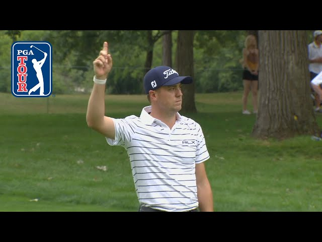 Justin Thomas' hole-out eagle at BMW Championship 2019