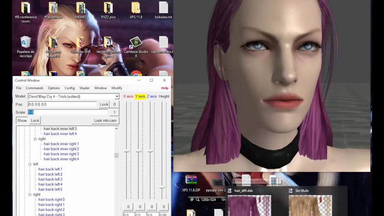 Changing Textures with Material Editor in XNALara