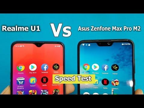 Asus Zenfone Max Pro M2 Vs Realme U1 Speed Test Max Pro M2 vs U1 Specifications Comparison
