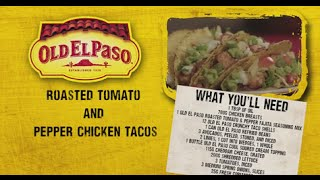 Roasted Tomato & Pepper Chicken Tacos | Andy Bates | Old El Paso